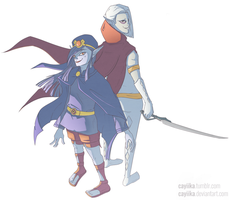 Hyrule Warriors: Vaati and Ghirahim by cayiika