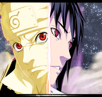 Naruto 635: Naruto And Sasuke by VitalikLoL
