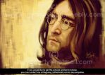 Portrait of John Lennon by cheatingly