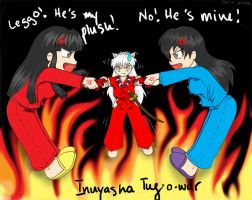 inuyasha tug-o-war by cloud-rider