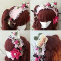 Strawberries and Chocolate Cake Headband by NoFlutter