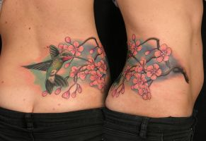 Freehand Hummingbird by viptattoo
