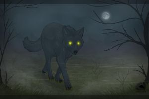 Wolf in the fog by NatalieDeCorsair