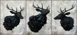 Swiggity Swag The Nightmare Stag by WeirdCityTaxidermy