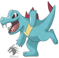 #158: Totodile by DRACOICE