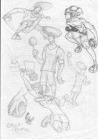 basketballer character by FATRATKING