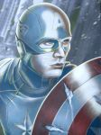 Captain America Colored up Print by corysmithart