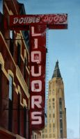 Double Door Chicago Sign by LessThanDressed