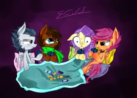 Poker Night at the NLR Base by scootaloocuteness