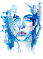 ice queen (watercolor girls 02) by Ralenore