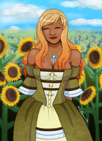 Smiles and Sunflowers by Maqqy96