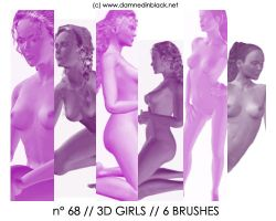 PHOTOSHOP BRUSHES : girls 3D by darkmercy
