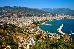 View Over Alanya Port and Town by SilverWolf112