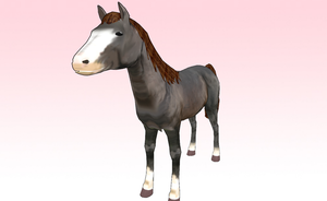 MMD horse downlaod by amiamy111