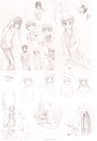 Spirits of Earthdale - prologue doodles by Kemi242