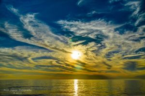 Beach Sunset HDR 1 by eanimusic