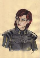 Mass Effect 3 Shepard by Sanghia