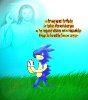 sonic praying by xX-yaoistormer-Xx