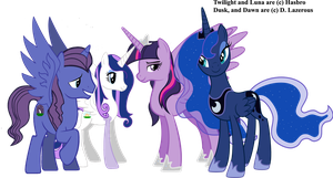Luna and Twilight's Family by dlazerous