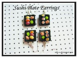 Sushi Plate Earrings by Nika-N