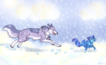 Snow Tag by OkapiCrazed