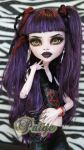 Paige 17inch Monster High Elissabat OOAK repaint by RogueLively