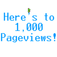 Here's to 1,000 Pageviews by iKYLE