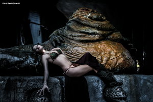 Leia And Jabba 44 by Darthsandr