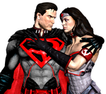 Injustice God Superman and Wonder Woman red son by corporacion08