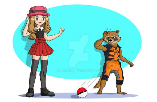 Serena and Rocket by jmascia