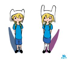 Fionna and Finn by Parize