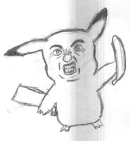 banana rage pikachu by juicethehedgehog