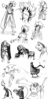 A Lot of Random Fan Art Sketches by JenL