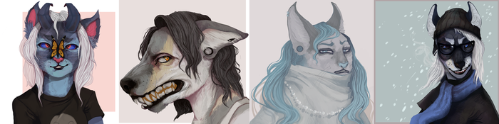 Antro heads by rottingworm
