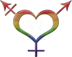 Gender Neutral Symbol in Rainbow Colors by lovemystarfire