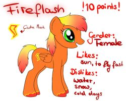 Fireflash 10 points MLP-Adopt CLOSED by oOSchokoOo