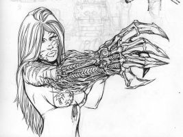 witchblade sketch by Danielleister