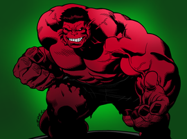 The Red Hulk by portfan