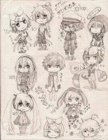 Vocaloid Chibis by TwigPrince