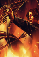 Katniss, the girl on fire by SatelliteAlice