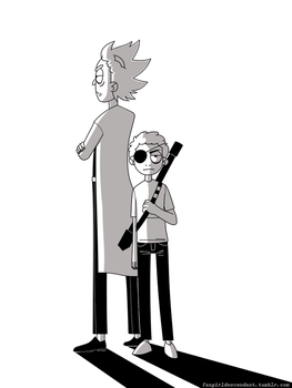 Evil Rick and Morty by AnInnocentDemon