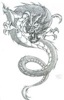 dragon tattoo by levin-atanx