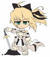 Chibi: Saber by animereviewguy