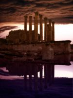 Ancient Temple Pre-made BG by 3-sisters-stock