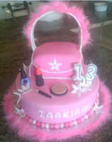 Make Up And Handbag Cake by Lucrecia1511