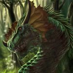 Forest Dragon by FleetingEmber