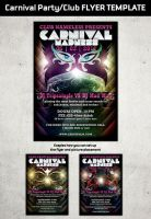 CARNIVAL PARTY FLYER TEMPLATE by Hotpindesigns