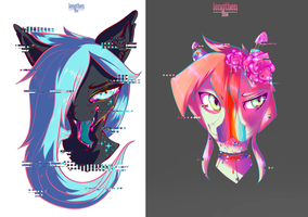 Psychedelic Pony portraits experiments by lengthen