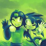 Green n Blue Worlds Collide! by Sonicbandicoot