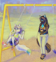 Afternoon at the Park c: by I-Ran-So-Far-Away